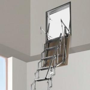 Scale retrattil retraibili per soffitta scala a botola per sottotetti retraibili - Scale retrattili a parete ...